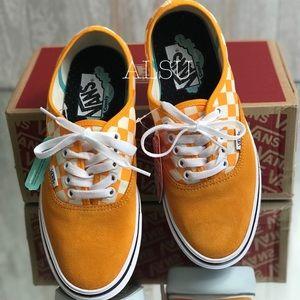 Vans Shoes - VANS Comfycush Authentic Checker Zinnia Yellow W